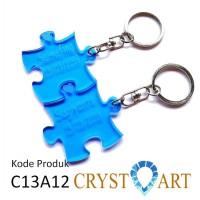 Gantungan kunci pasangan (couple) beli 1 dapat 2, bisa pilih warna