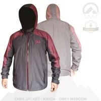 XABA jaket waterproof series summit - kayoa - black grey -grey maroon