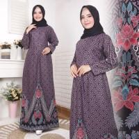 gamis batik wanita seragam baju muslim modern gamis batik