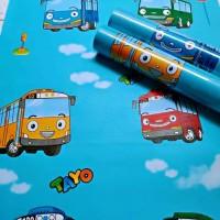 Grosir Termurah Wallpaper Sticker Dinding Kartun mobil Tayo 10 M