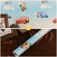 Grosir Termurah Wallpaper Sticker Dinding Kartun mobil Marquent 10 M