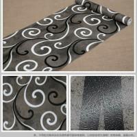 Grosir Termurah Wallpaper Sticker Dinding Batik hitam ulir Putih 10 M