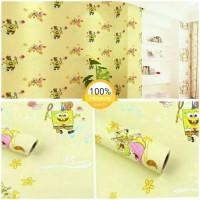 Grosir Termurah Wallpaper Sticker Dinding motif kartun Spongebob 10 M