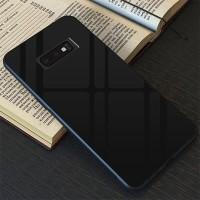 Case Samsung Galaxy S10e S10 E Luxury Tempered Glass Premium Case - Hitam