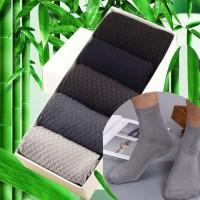New Kaos Kaki Pria Serat Arang Bambu Kaos Kaki Kerja Antibakteri W03 -