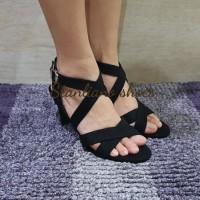 sandal high heels stanliano 783 hitam