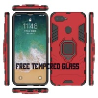 XIAOMI POCOPHONE F1/ OPPO F9 CASING ARMOR CASE WITH IRING KICKSTAND