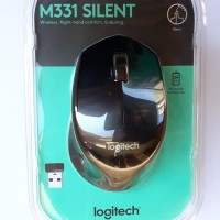 Mouse Wireless Logitech M331 Silent Plus / Original Asli Garansi Resmi