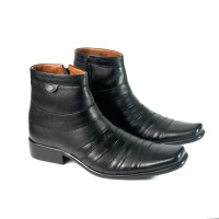 sepatu pantofel boots asli kulit ( tipe : 525 )
