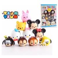 10Pcs Mainan Pajangan Hiasan Figure Set Tsum-Tsum Gift Box Disney