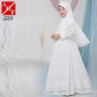 AGNES Gamis Putih Anak Perempuan Baju Muslim Lebaran Anak Wanita 523