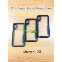 C114 Iphone X / XS Fusion Hybrid Premium Armor Case Silicone Acrylic