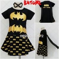 Dress Kostum Karakter Superhero BATGIRL Foil GOLD 3-9 Thn