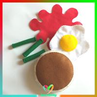 Mainan food flanel - breakfast theme