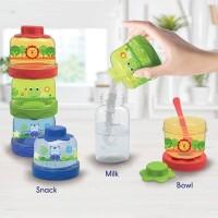 Baby Safe Stacked Milk Container (Wadah Susu Bubuk/Snack/Makanan)