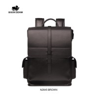 Bison Denim-Tas Ransel / Backpack Kulit Sapi Original (BISON N2645-1C)