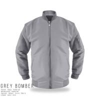 jaket bomber grey taslan