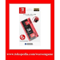 HORI Cartridge Push Card Case 6 for Nintendo Switch (Neon Red)