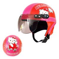 Helm sepeda motor anak karakter tayo hello kitty doraemon umur 1 2 3 4