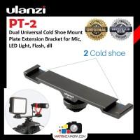 Ulanzi PT-2 Dual Hot Cold Shoe Mount Adapter Bracket for Mic LED Flash