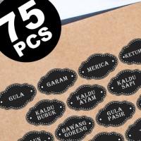 stiker label nama bumbu dapur pantry jar pet botol toples desain 3