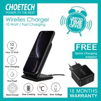 Wireless charger Choetech T555 BK + Q3002 10 W fast charging