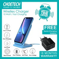 Wireless charger Choetech T555 BLUE + Q3002 10 W fast charging