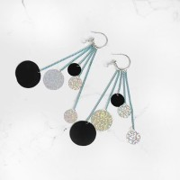 Anting Korea Tassel Color Nightclubs Earrings AGS338