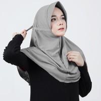 Hijab Instan Serut Polos Adiba Jilbab Jokowi Kerudung