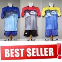 Setelan Badminton / Bulutangkis Yonex 40 (Baju Kaos Jersey Celana) 3