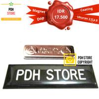 Papan nama grafir Dop Coating 2.5 x 8 cm Magnet - IDR :17.5K