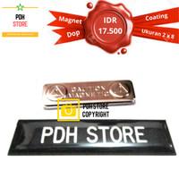 Papan nama grafir Dop coating 2 x 8 cm Magnet - IDR : 17.5K