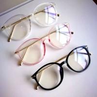 Kacamata (DesignKorea) Pria Wanita Casual Transparan stylish korea