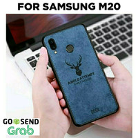Case Samsung M20 M10 softcase casing hp back leather levis tpu DEER