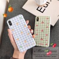 Casing Soft Case iPhone 6s 6 7 8 Plus X XR XS MAX Cute Fresh Fruit Ora