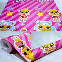 Grosir Termurah wallpaper sticker Dinding karakter LOL Garis pink 10 M