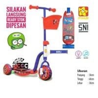 Mainan Scooter Anak PMB Merah Skuter Roda 3 Tiga Khusus Kurir Gojek