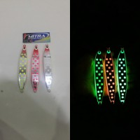 Metal jig Gid Polka XZ 100grm cast jig MBP GLow in the dark pancing
