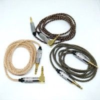 High End Headphone Cable Aux 8 Braid Silver Plated M2M kqr21