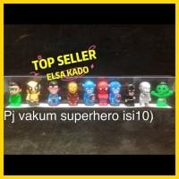 pajangan mobil hiasan kue boneka mainan figure avengers marvel isi 10