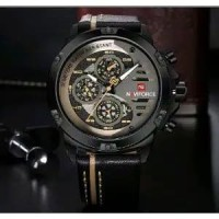 JAM TANGAN NAVIFORCE ORIGINAL NF 9110 BLACK LIST ROSE GOLD Limited