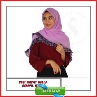 Hijab Segi Empat Jilbab Segiempat Rempel Bunga Kerudung Praktis