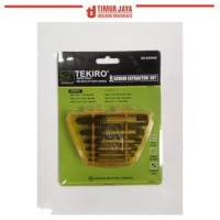TEKIRO Screw Extractor 6 Pcs Pembuka Baut Set Tap Balik