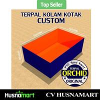 Terpal kolam Kotak Custom ORCHID PVC Semi Karet