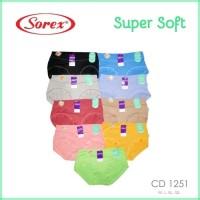 CD / Celana Dalam Wanita Sorex art 1251 Super Soft=QL / XXL
