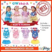 PROMO!! Setelan Baju GW Fashion Baby Girl / Cewek Bandana Jumper Tutu