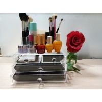 Tempat Makeup Akrilik Organizer 1Set Dengan 4 Drawer BMF0316 Import