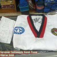 Baju Taekwondo Anak Tekwondo Seragam Taekwondo Kerah Merah Hitam Poom