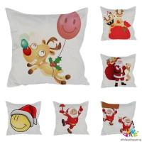 Sarung Bantal dengan Bahan Halus dan Gambar Motif Bernuansa Natal