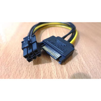 Kabel Power SATA 15 Pin To 6 Pin 6pin PCI-E Video Card VGA Express